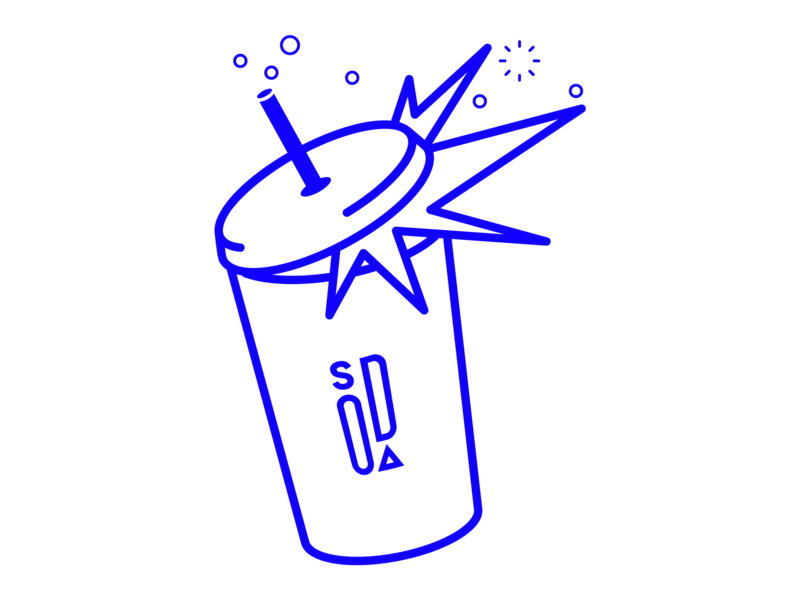 Soda Studio Can bubbles soda illustration branding