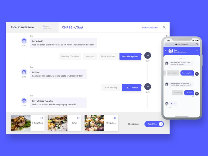 eva - the event bot prototype soda ux chatbot conversational ui