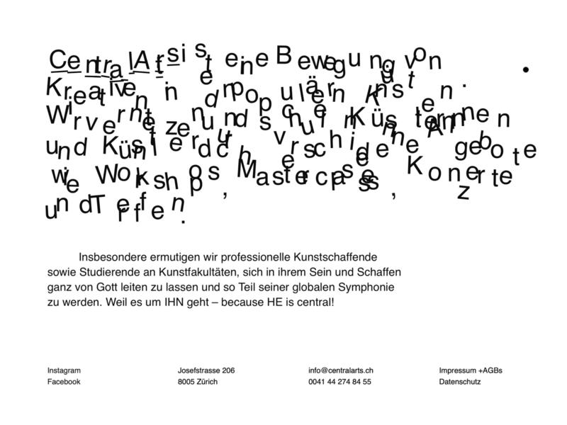 Typo destruction art typography interactive