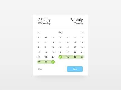 Date Picker - Daily UI challenge 080 trending button interface web ux ui minimal dailyui date picker date