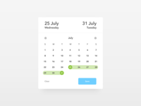 Date Picker - Daily UI challenge 080