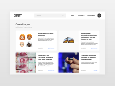 Curated For You - Daily UI challenge 091