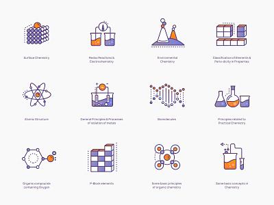 Chemistry Icons #1 brewex illustration education science illustration icons design gradient icon science chemistry icons set icons