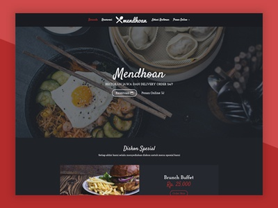 Traditional Restaurant Website.