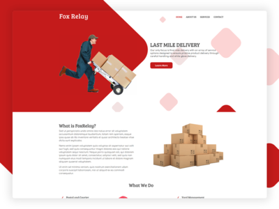 Delivery Services website