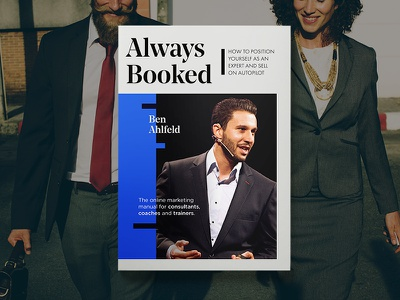 Always Booked Cover blue coaching business minimalistisk bookcase book