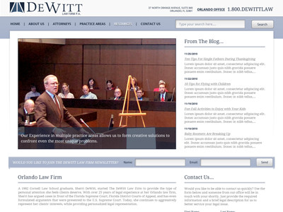 Dewitt Law Firm Redesign Concept law firm mockup concept dewitt law