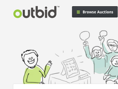 Outbid.com Concept/Redesign (Unofficial) outbid mockup redesign