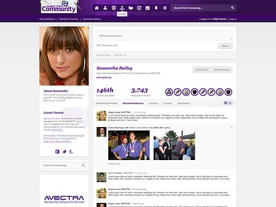 Avectra MemberFuse v3.0 User Profile memberfuse avectra social media social network