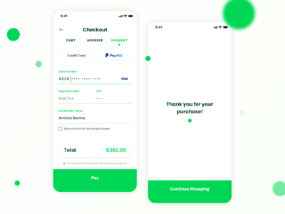 Daily UI | 002 - Credit Card Checkout UI iphone app ux ui app design design breadcrumb cart shopping ecommerce creditcard checkout challenge dailyui 002 dailyui