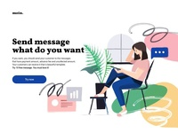 Landing page - sending message service