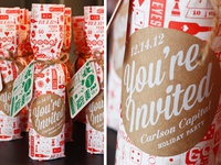 Holiday Brew Bottle Wrap
