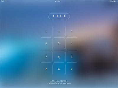 Keypad Login Screen  blurring ios minimalist ipad keypad login screen access control
