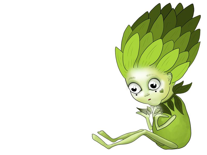Artichoke digital characters artichoke procreate illustration art