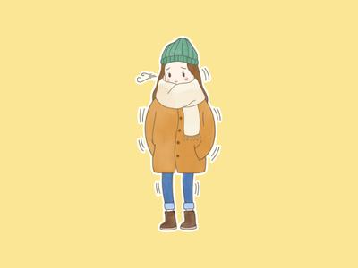 - the freezing girl