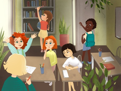 The talk about the future children school character design character illustration procreate childrens illustration childrens book book illustration