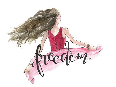 Freedom type inspire freedom handlettering lettering