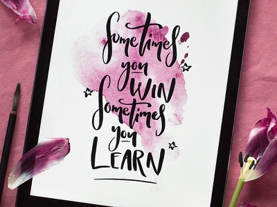 Motivation lettering motivation letter calligraphy ligature lerttering poster type lettering