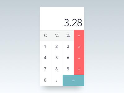 Daily UI 004 daily ui clean minimal calculator 004 dailyui