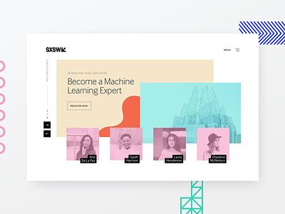 SXSW Featured Events | Exploration app web website clean simple geometric sxsw exploration