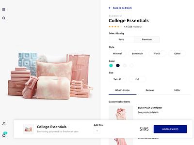 Product Detail Page | Exploration exploration clean minimal ui web product detail page pdp ecommerce
