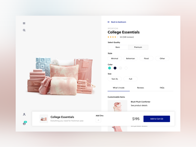Product Detail Page | Exploration exploration clean minimal ui web product detail page pdp ecommerce