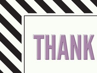 Striped Thank You Card