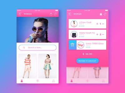 Shopping Ui ios mobile design training inspiration shop app ui