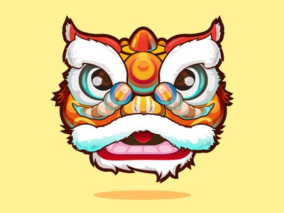 Lion Dance china graphic design icon illustration