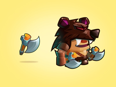 Sword & Magic - Barbarian magic game cute illustration