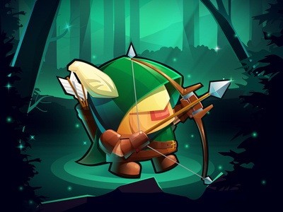 Sword & Magic - Ranger characters image graphic design icon illustration