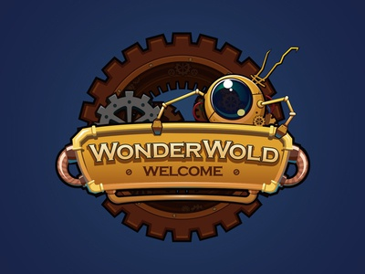 Wonderworld Robot characters image graphic design icon illustration