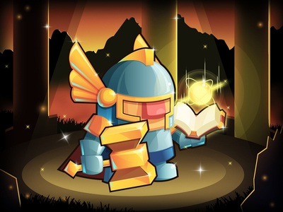 Sword & Magic - The Paladin image illustration icon design graphic characters