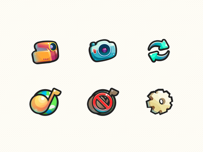 Cute Icons illustrator ui cute icon
