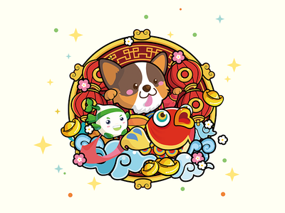 New Year Pictures illustrations cute app icon