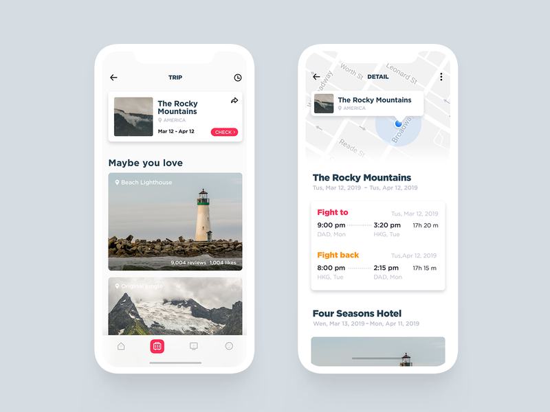 Travle App 2 travel design ui image app