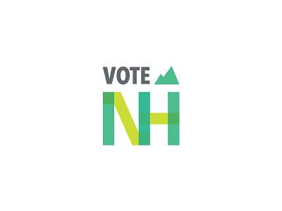 Vote New Hampshire Logo political brand branding logo design voting logo political logo logo new hampshire voting rights