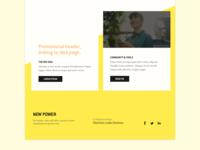 New Power Website