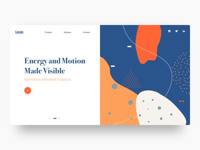 Saar split webdesign split fold abstract webdesign website uidesign colors ux ui