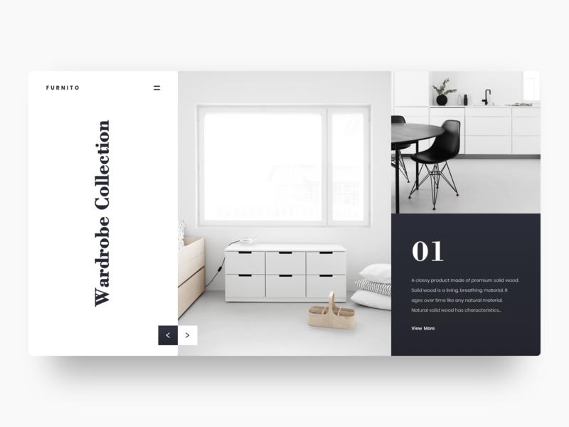 Furnito clean visual website minimal hero section ecommerce furniture hero landing page uidesign ux ui