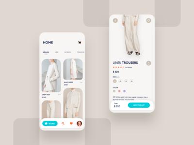 Fashion E-Commerce App Concept