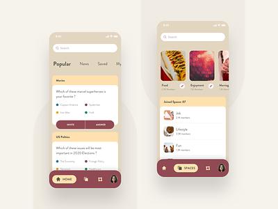 Openbare applicaiton app design votes voting election design iphone minimal interaction colors uidesign ux ui