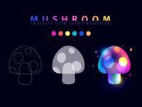 gradient mushroom icon