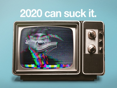 2020 - The Office (RIP) glitch static tv netflix prison mike the office new year 2020 digital glitch art photoshop illustration