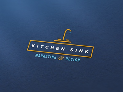 Kitchen Sink - Logo  line art kitchen ampersand type drawing creative vector typography illustration branding logo