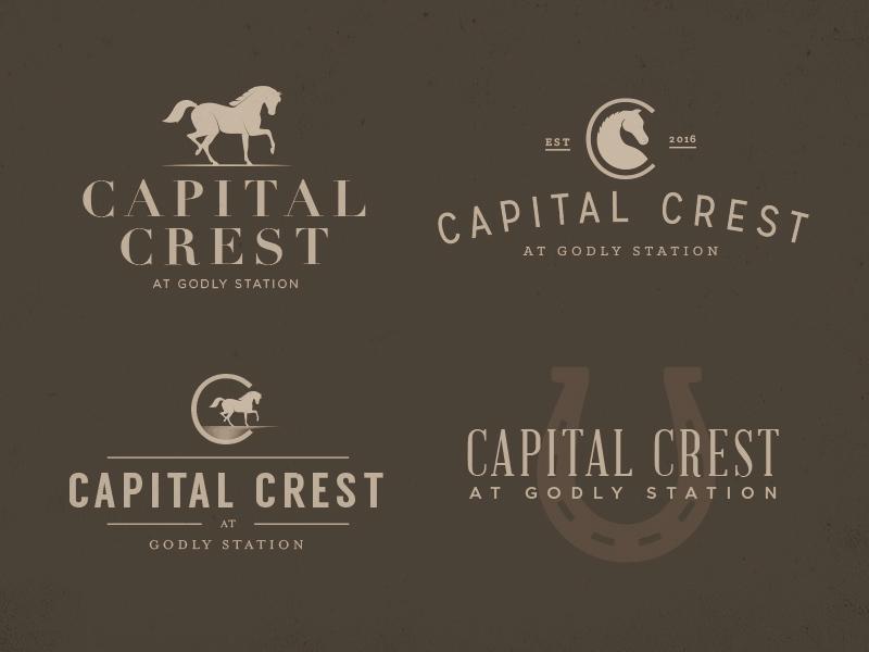 Capital Crest - Logos real estate icon badge vintage typography type horse georgia drawing illustration branding logo