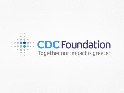 CDC Foundation - Logo rebrand modern circle dots icon atlanta non profit cdc illustration typography branding logo