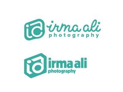 Irma Ali - Logo Progress design script camera type photography vector handlettering typography lettering icon branding logo