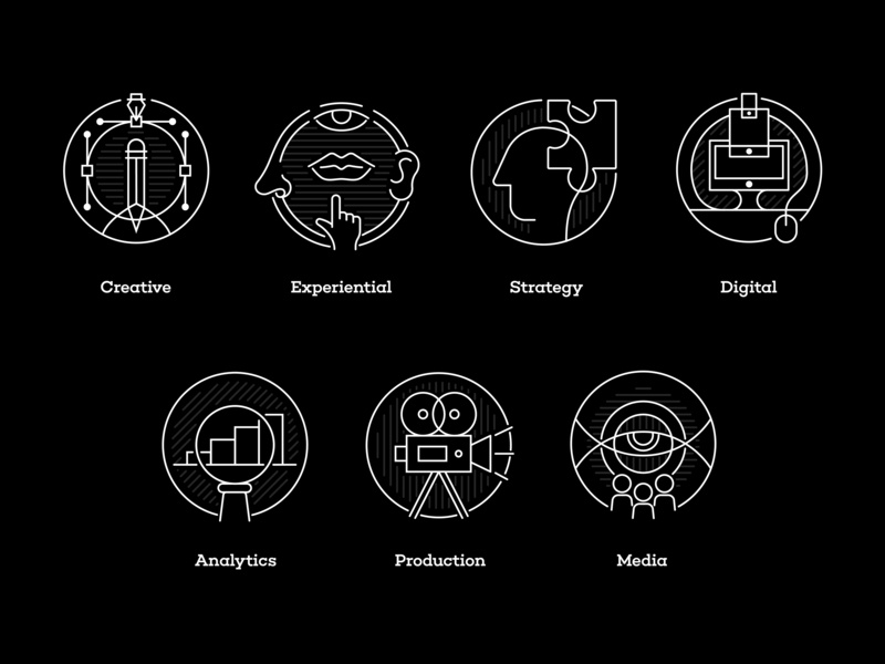 LRXD - Capabilities Icons vector design graphic digital modern creative monoweight line art logo illustration icon
