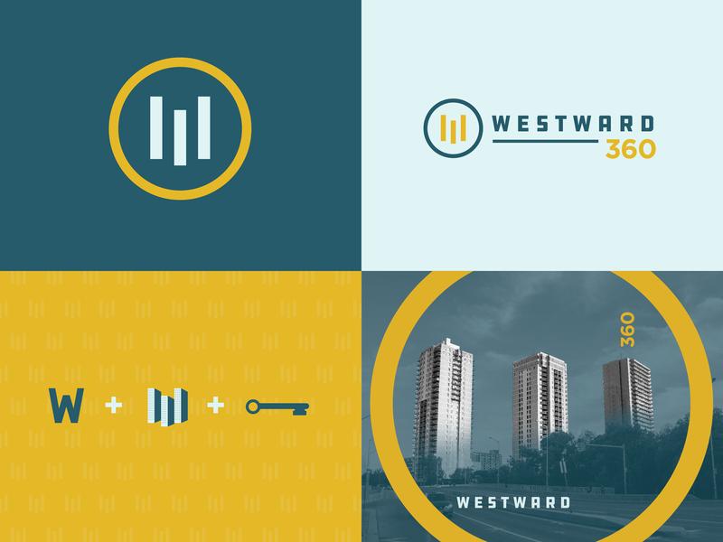 WW360 - Logo simple typography key vector flat illustration creative design icon branding logo